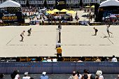HERMOSA BEACH, CA - JULY 21: Brad Keenan, John Mayer, Mark van Zwieten and Andrew Fuller compete in