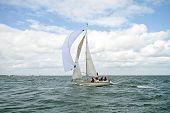 sailing on the IJsselmeer in the Nethrlands