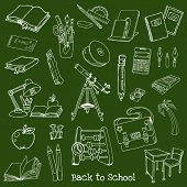 Back to School Doodles - Hand-Drawn Vector Illustration Design Elements (part 1)