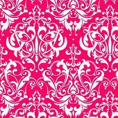 damask seamless pink background