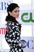 LOS ANGELES - JUL 29:  Janet Montgomery arrives at the CBS, CW, and Showtime 2012 Summer TCA party at Beverly Hilton Hotel Adjacent Parking Lot on July 29, 2012 in Beverly Hills, CA