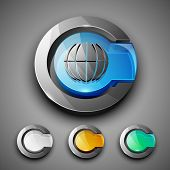 Glossy 3D web 2.0 internet browser symbol icon set. EPS 10.