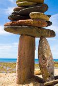 image of fulcrum  - Zen Pebbles Stone Tower - JPG