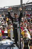 INDIANPOLIS, IN - JUL 29, 2012:  For the fourth time in his career, Jimmie Johnson (48) wins tthe Cu