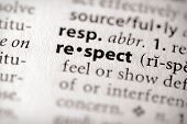 "image of respect  - Selective focus on the word ""respect"". Many more word photos in my portfolio...