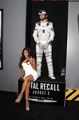 LOS ANGELES - AUG 1: Megan Good, Total Recall character at the Los Angeles Premiere of 'Total Recall