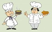 vector illustration of funny chefs