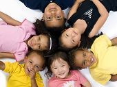 stock photo of children group  - A group of children of various ethnic backgrounds - JPG