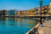 Promenade In Chania, Crete, Greece