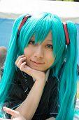 Menina de cosplay