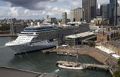 Sydney, Australia Apr 7Th: The Cruise Ship Celebrity Solstice In Sydney Harbour On April 7Th 2013. T
