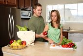 Couple Cooking poster