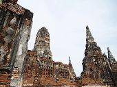 Постер, плакат: Древняя пагода Чай Ваттанарам Храм Аюттхая Таиланд