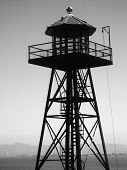 Alcatraz Prison, San Francisco, Us - June 2005: A View Of The Prison Guard Tower On June 27, 2005 In