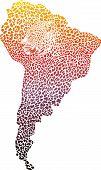 Jaguar surrealista en el mapa de América del sur