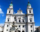 SALZBURG, AUSTRIA - CIRCA SEPTEMBER 2012: Salzburger Dom in Salzburg, Austria in September 2012.