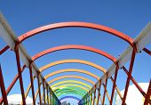 Colorful bridge in Aviles