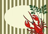 Vector Red Lobster Background