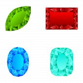 image of marquise  - different color Crystals  isolated on white background - JPG