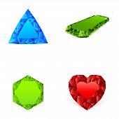 Diamonds In Different Colors Set