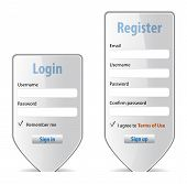 Login Form Website Interface Design Element