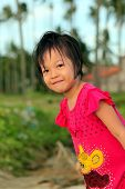 Cute Little Asian Girl Smiling