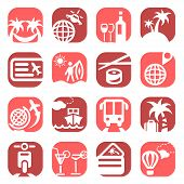 color travel icons