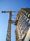 Crane Building Construction poster