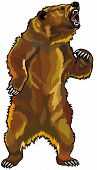 Rugindo Grizzly Bear