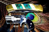 stock photo of derringer pistol  - They may look attractive but these are both deadly weapons - JPG