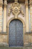 Entrance door of a baroque style church