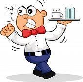 Angry Waiter Cartoon