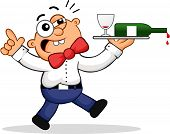 pic of souse  - Cartoon of a waiter - JPG