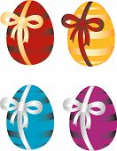 Easter Eggs With Bow.eps