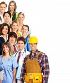 stock photo of people work  - Large group of smiling people - JPG