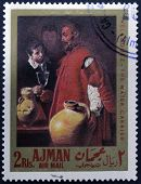 A stamp printed in Ajman shows