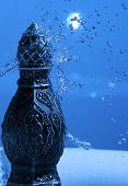 Arabian Oud Bottle Under Shower