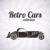 Retro cabriolet sport car, vintage collection