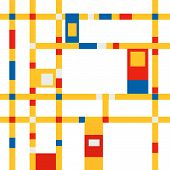 Mondrian inspiration background 03 poster