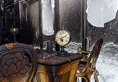picture of fire insurance  - Fire damaged interior details in summer house after blaze - JPG
