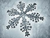 Illustrated snowflake