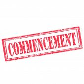 Commencement-stamp