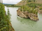 Five Finger Rapids Rocks Yukon River Yt Canada
