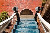 Treppe eines alten Hauses