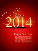 vector 2014 happy new year design