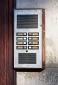 old intercom at the front door