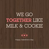 Love expression milk and cookie