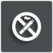 No smoking sign. No smoke icon. Stop smoking