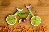 Healthy Lifestyle Concept - Vegetable Bike