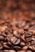 Red Roasted Coffee Beans Background